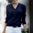2. Parisian Chic navy sweater