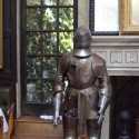 suit of armor at the lion!