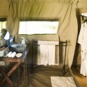 Ensuite bathroom at Savute Under Canvas