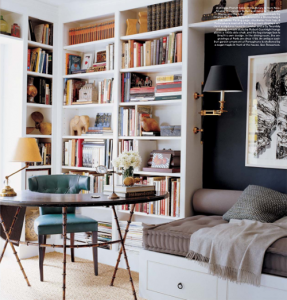 bookshelves nook